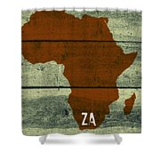 Africa Za Shower Curtain