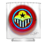 African American Button Shower Curtain