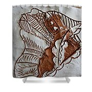 African Angel - Tile Shower Curtain