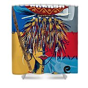 African Beauty 2 Shower Curtain