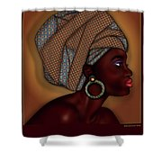 African Beauty Shower Curtain
