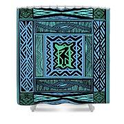 African Blue Bird Shower Curtain
