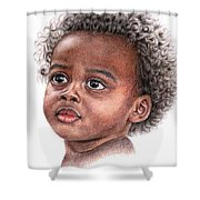 African Child Shower Curtain