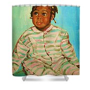 African Cutie Shower Curtain