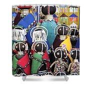African Dolls Shower Curtain