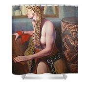 African Drum 1 Shower Curtain