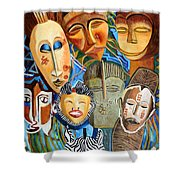 African Eclectic Shower Curtain