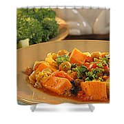 African Food Network Shower Curtain