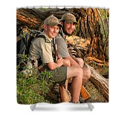 African Game Guides Shower Curtain