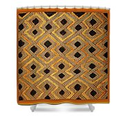 African Kuba Design Shower Curtain