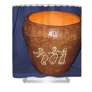 African Ladies Lead The Dance - View One Shower Curtain