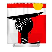 African Magic  Shower Curtain