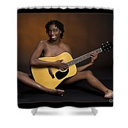 African Nude And Guitar 1184.02 Shower Curtain