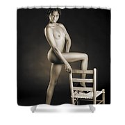 African Nude With Chair 1189.01 Shower Curtain