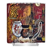 African Perspective Shower Curtain