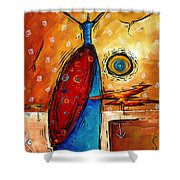 African Queen Original Madart Painting Shower Curtain