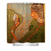 African Respect - Tile Shower Curtain