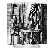 African Statues Shower Curtain