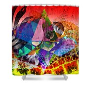 African Story In Three Time Travels Shower Curtain