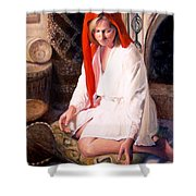 African Strings 4 Shower Curtain