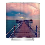 African Sunrise Cotton Candy Skies Shower Curtain