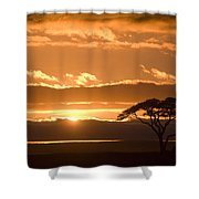 African Sunrise Shower Curtain