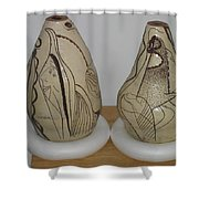 African Terracotta Goulds - View One Shower Curtain