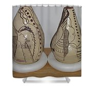 African Terracotta Gourds - View Three Shower Curtain