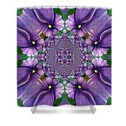 African Violet Wave Shower Curtain