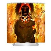 African Warrior Shower Curtain