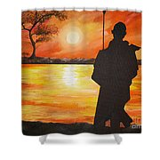 African Watchman Shower Curtain