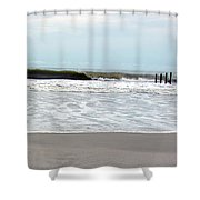 African Waves II Shower Curtain