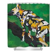 African Wild Dog Shower Curtain