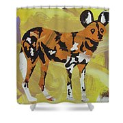 African Wild Dog Shower Curtain by Candace Shrope