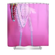 African Wire Flamingo Shower Curtain