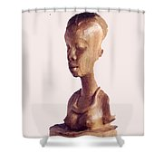 African Woman Bust Shower Curtain