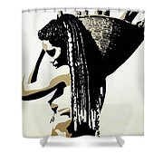 African Woman With Basket Shower Curtain