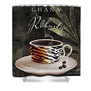 Afrikan Coffees II Shower Curtain
