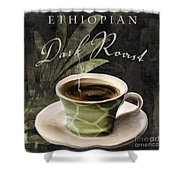 Afrikan Coffees Iv Shower Curtain