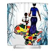 Afrique Walk Shower Curtain