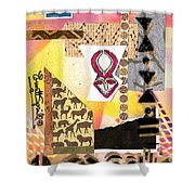 Afro Collage - F Shower Curtain