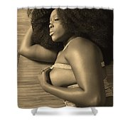 Afro Pic Shower Curtain