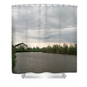 After A Rainy Day In Danube Delta Shower Curtain