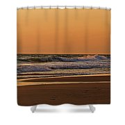 After A Sunset Shower Curtain by Sandy Keeton