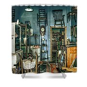 After Hours Antiques Shower Curtain