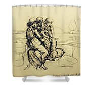 After Leonardo Da Vinci  Shower Curtain