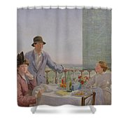 After Lunch Shower Curtain by Gerard Chowne