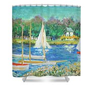 After Monet Shower Curtain