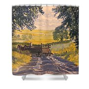 After Rain On The Wolds Way Shower Curtain