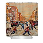 After School Hockey Game Shower Curtain